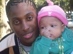 My son Andrew with his daughter Ny'Asia